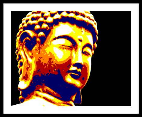 Buddha_manually posterized_framed_small.png
